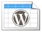 בניית אתר וורדפרס - תוסף טבלאות